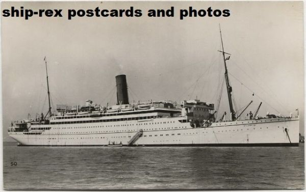 ATLANTIS (1929a, Royal Mail Lines) postcard (e2)